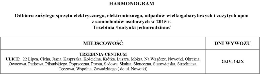 Harmonogram wywozu odpadów w 2015r. 4